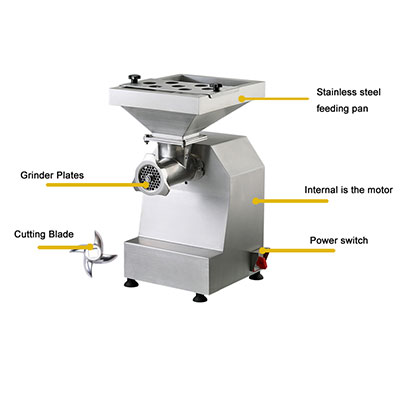 meat grinder with attachments